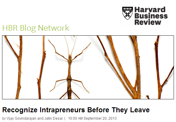 Recognize Intrapreneurs Before They Leave