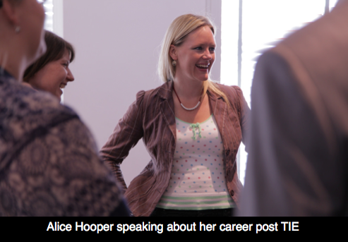 Alice Hooper speaking about her career post TIE