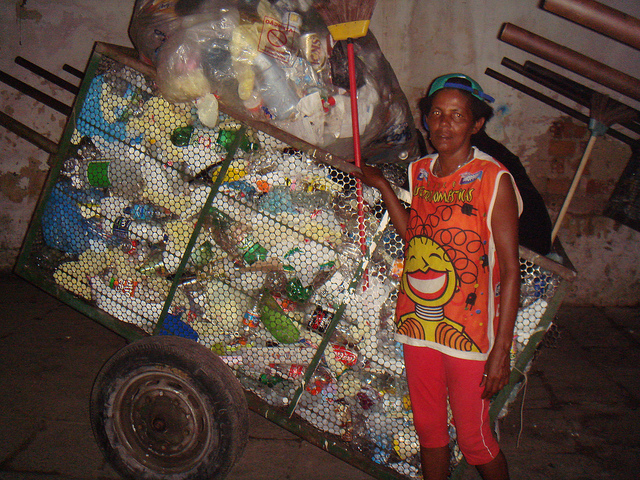 Garbage picking is very common in developing countries. Some organizations try to empower these people and create profitable business for them