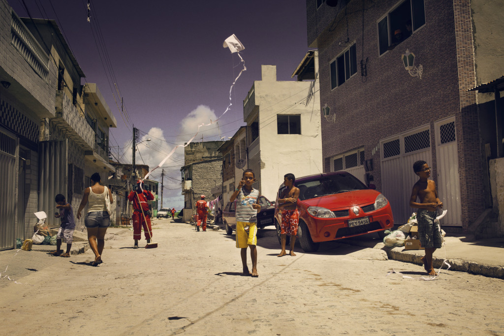 In the suburbs of Recife, it's common for children to play on the streets. These used to be very friendly and safe communities